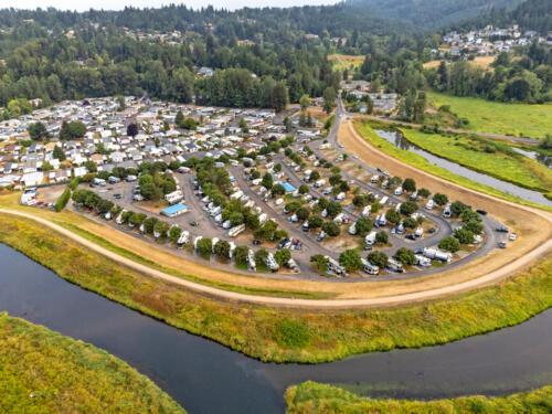Brookhollow RV Park Community Aerial